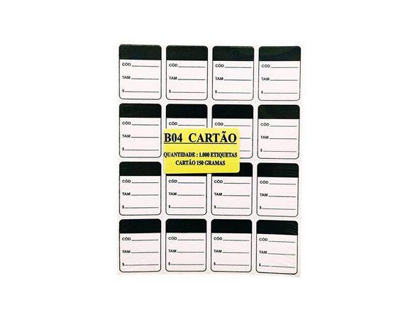 Etiqueta Para Roupas Caixa com 5000 Unidades 3 x 4  Preto