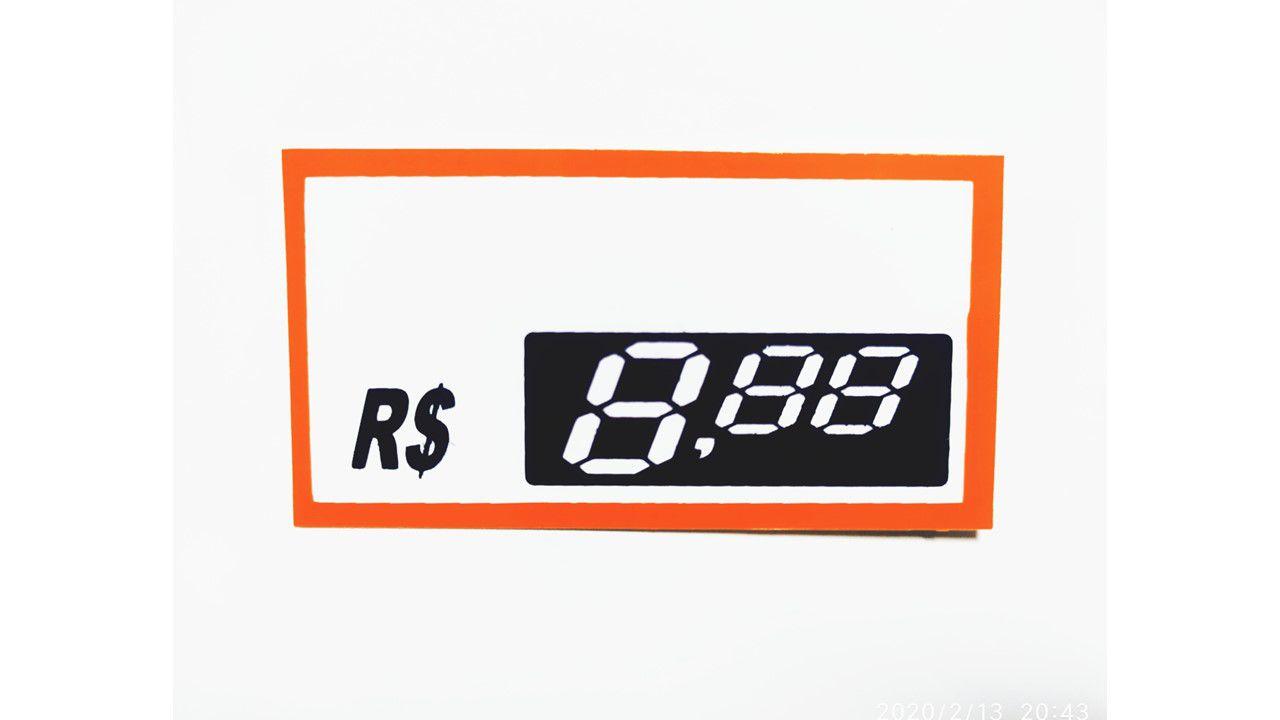 Etiquetas Personalizadas de PVC  70 Mm X 37 Mm Com 50 Unidades 03 Digito Vermelho