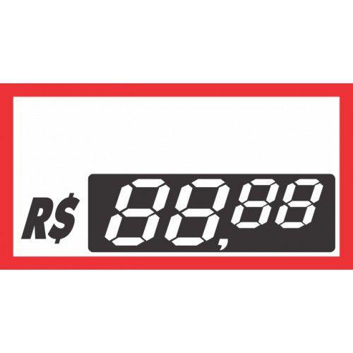 Etiquetas Personalizadas de PVC  70 Mm X 37 Mm Com 50 Unidades 04 Digito Vermelho