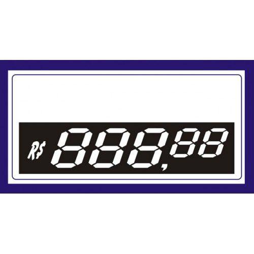 Etiquetas Personalizadas de PVC  70 Mm X 37 Mm Com 50 Unidades 5 Digito Azul