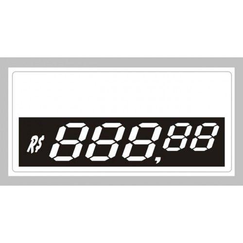 Etiquetas Personalizadas de PVC  70 Mm X 37 Mm Com 50 Unidades 5 Digito Prata
