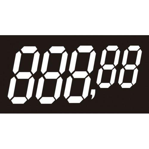 Etiquetas Personalizadas de PVC  70 Mm X 37 Mm Com 50 Unidades 5 Digito Preto