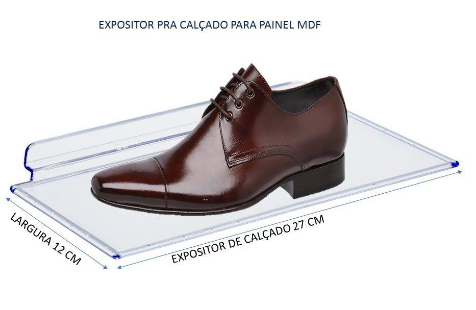 Expositor De Calçado Acrílico Para Painel Canaletado Com 50