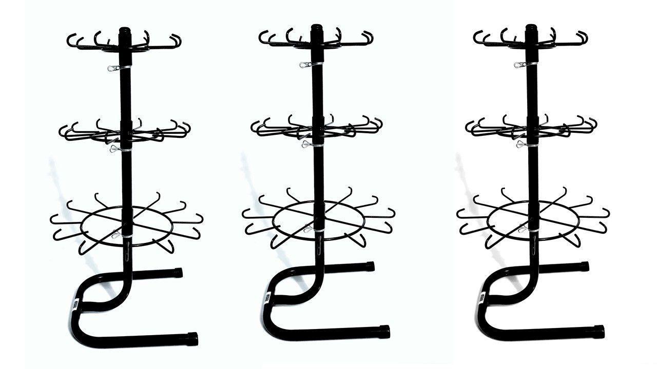Expositor Giratório Para chaveiros De Balcão 03 unidades PT