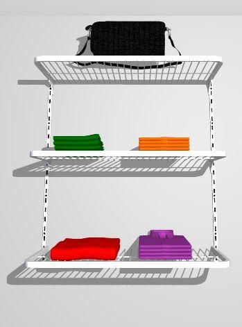 Jogo De Prateleira Closet Aramado Kit 60 Cm X 0,40 Cm Branco