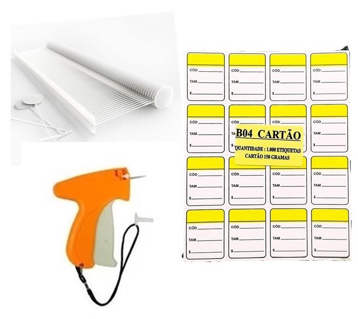 kit Aplicador  = 1000   Etiquetas Amarelol   + 1000  Pinos bola 40 mm  + 01  Aplicador com Agulha
