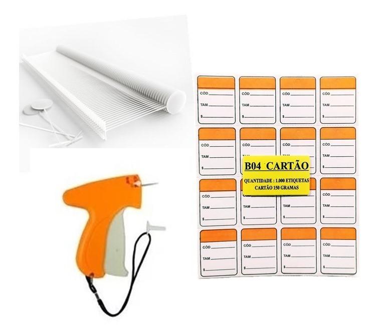 kit Aplicador  = 1000   Etiquetas  Laranja  + 1000  Pinos bola 40 mm  + 01  Aplicador com Agulha