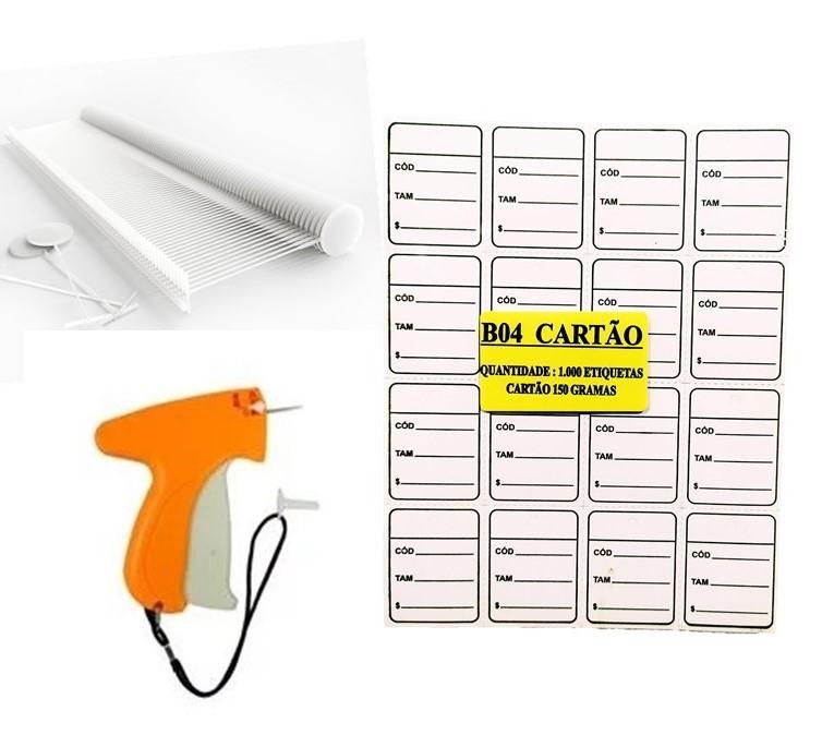 kit Aplicador = 5000 Etiquetas Vermelha + 5000 Pinos bola 40 mm + 01 Aplicador com Agulha