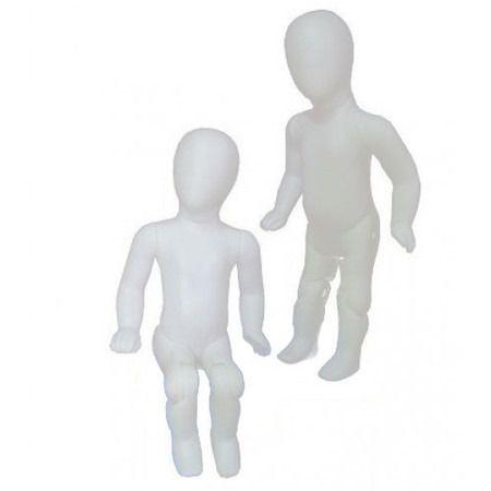 Manequim  Bebê Articulado Branco 1 Unidade vete ate 7 Meses