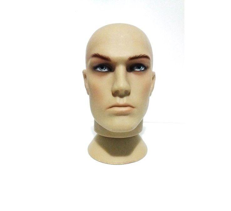 Manequim Cabeça Masculino   Para perucas Toucas Chapéu  Mascara Suporte