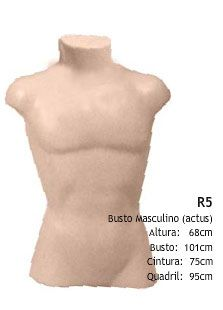 Manequim Masculino  Expositor Busto