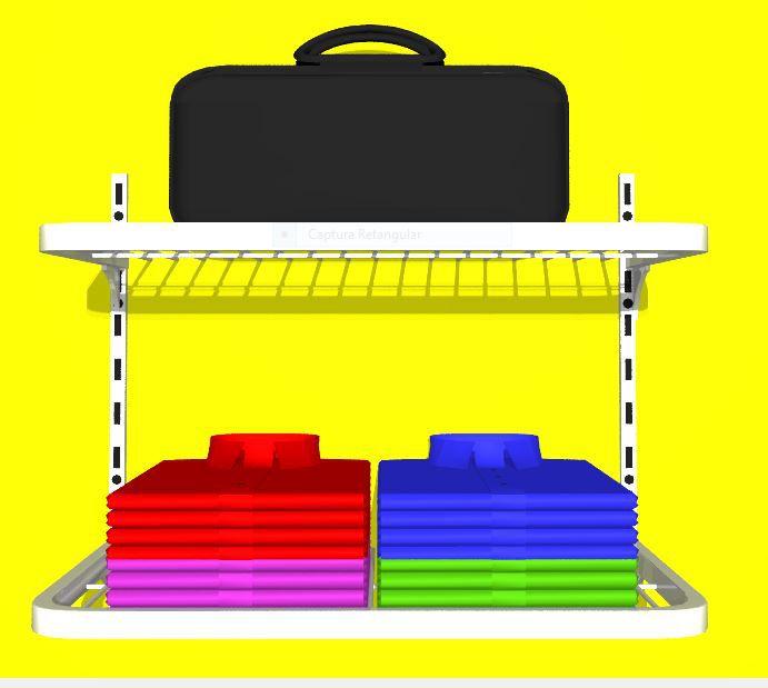 Prateleira Closet Aramado 40 X 60  02 Unidades +  02 trilho 50 cm
