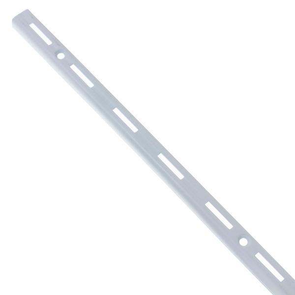 Trilho Simples Para Prateleiras kit com 8 unidades 50 cm  branco