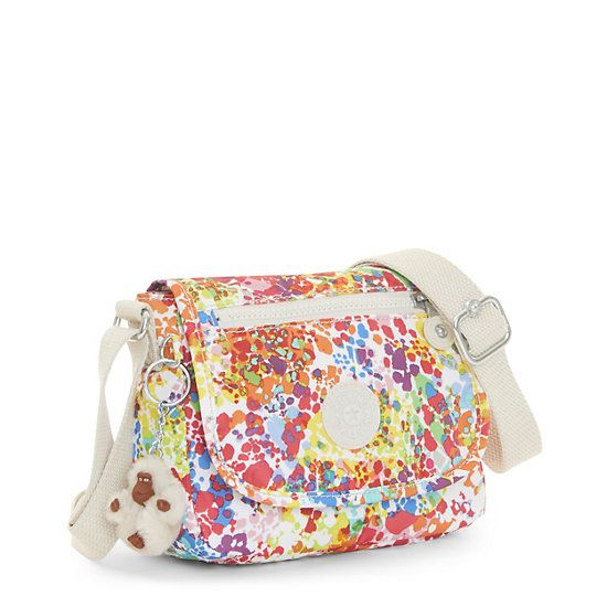 Bolsa Sabian Crossbody Floral Color Burst Bright Kipling