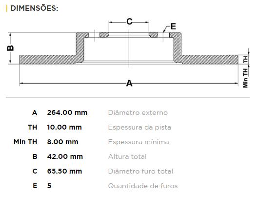 Disco De Freio Traseiro Aro 14 Astra 1.8/2.0