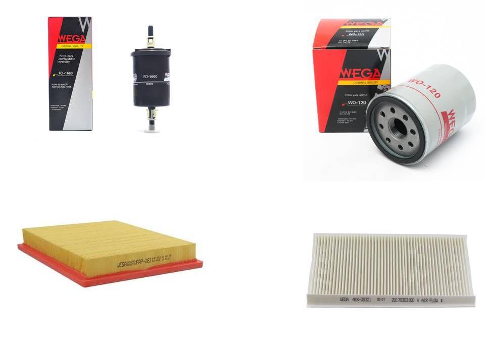 Kit Filtro Palio Siena Strada 1.0 1.3 1.4 8v Fire 2001/2011