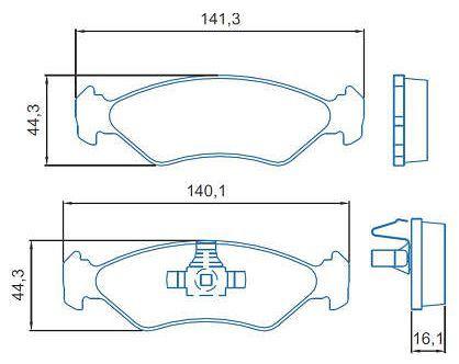 Pastilha de freio dianteiro Ford Ka Fiesta 1.0 09/13