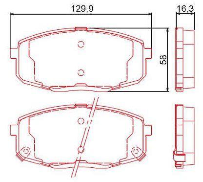 Pastilha de freio dianteiro Hyundai I30 2.0 16v 09/12