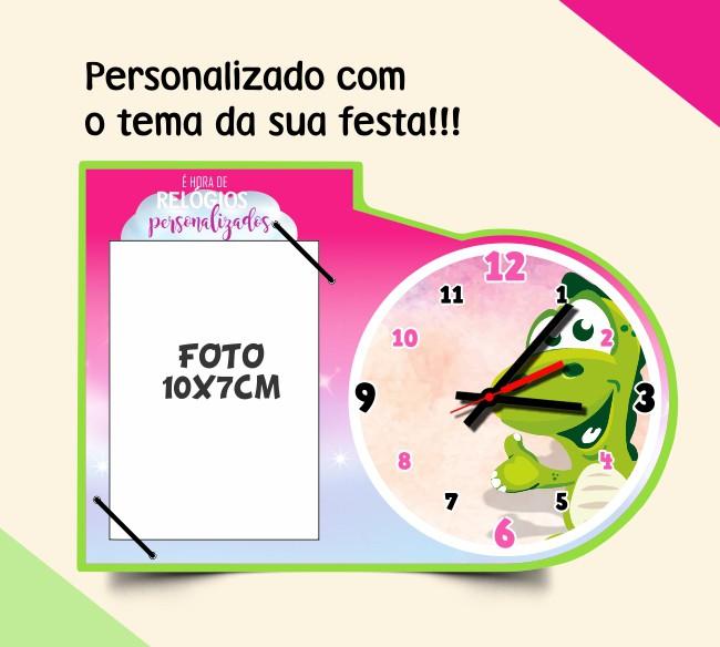 Relógio c/ porta retrato personalizado