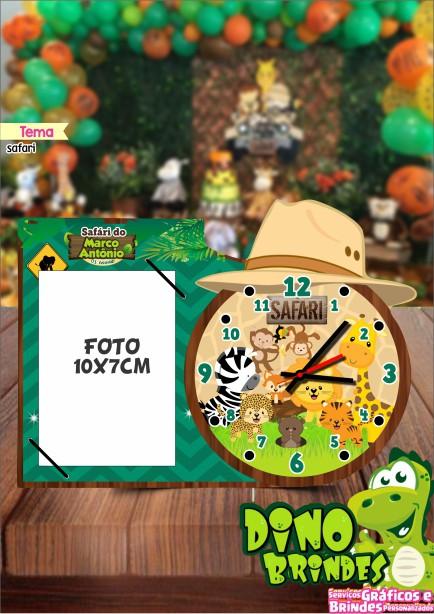 Relógio c/ porta retrato Safari Baby