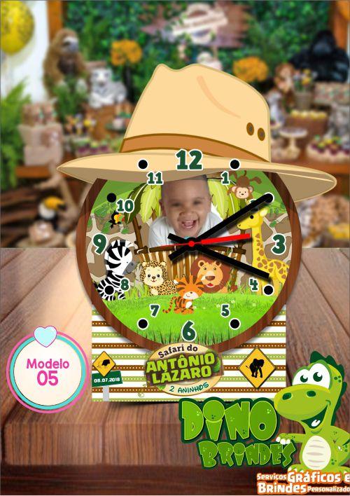 Relógio de mesa Safari Baby