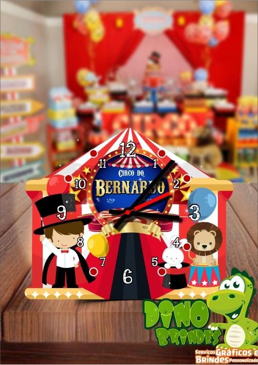 Relógio de mesa Tenda de circo