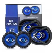 Kit Pratico Facil Hurricane 6 + 6x9 310w Falante Quadriaxial