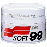 Cera Carnaúba para Carros Brancos - 350g Soft99 White Wax Cleaner
