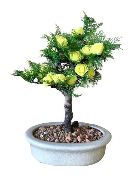 Bonsai Artificial Eugenia Amarela