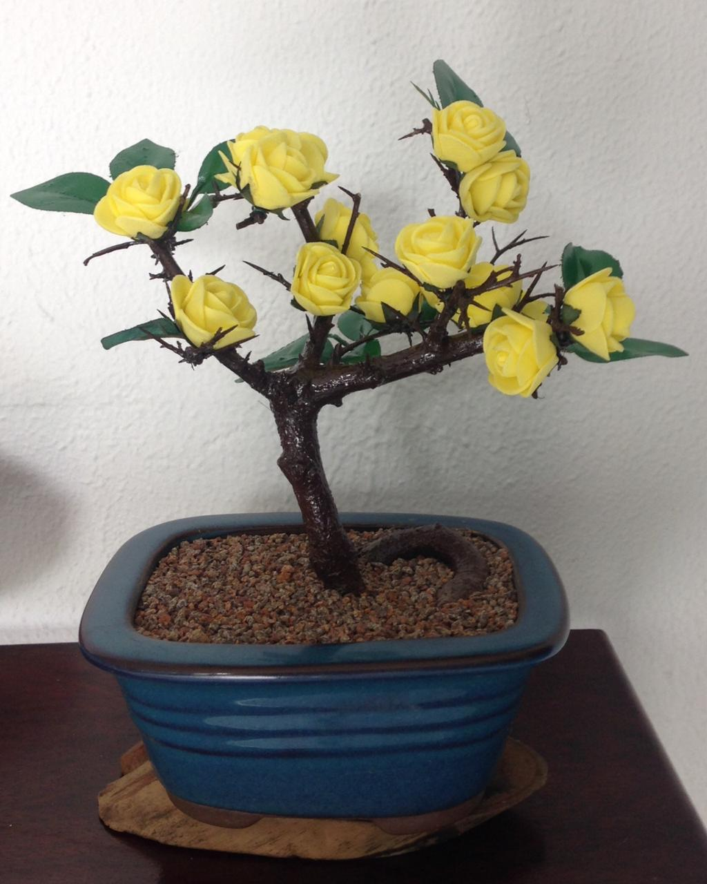 Bonsai Artificial Flor Amarela