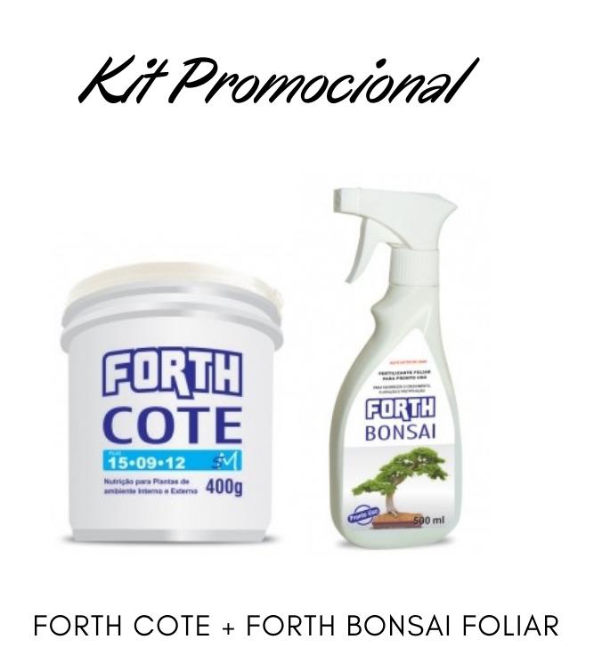 Kit Promocional Adubo Forth Cote + Foliar Bonsai