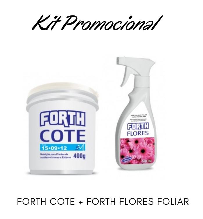 Kit Promocional Adubo Forth Cote + Foliar Flores