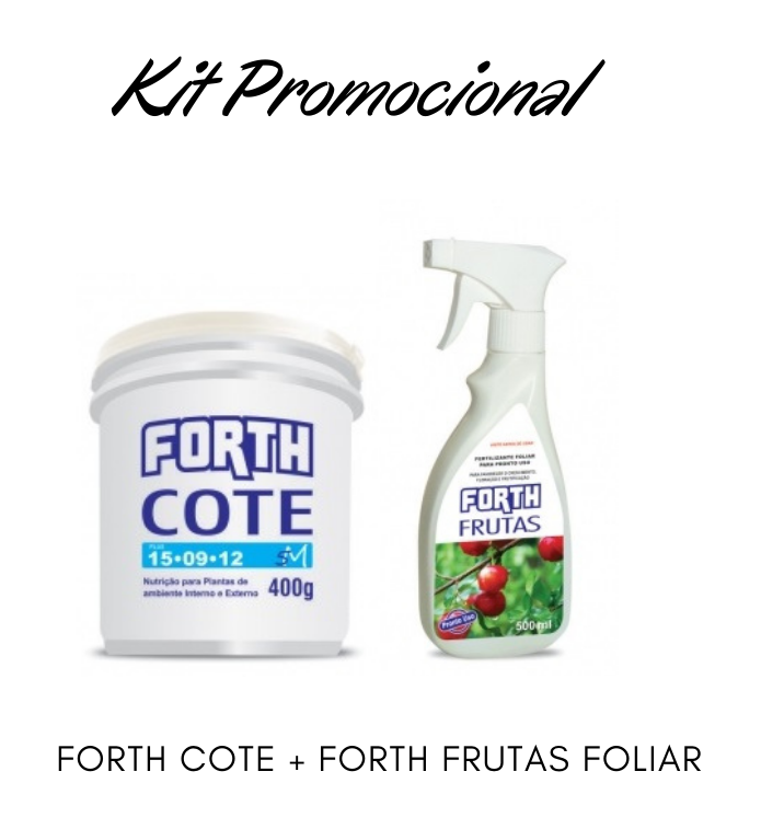 Kit Promocional Adubo Forth Cote + Foliar Frutas