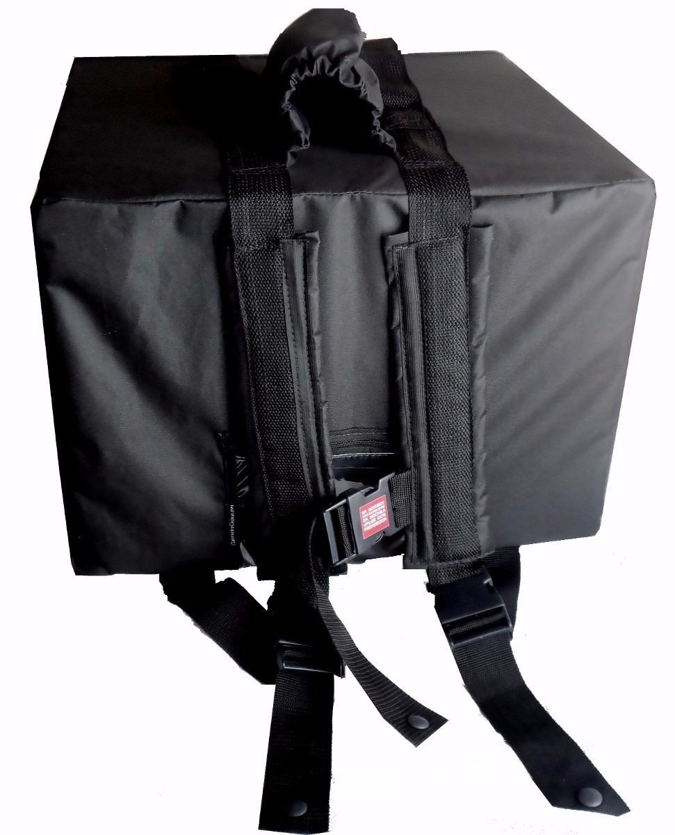 37b34ae09 ... Bolsa Mochila Para Entrega De Pizza Térmica Motoboy Com ou Sem Caixa de  Isopor Divisória 35cm ...
