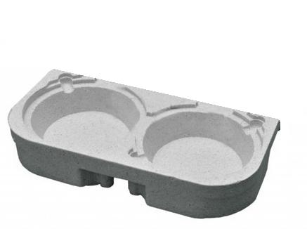 Meia Bandeja para reposição de mochila marmitex vertical  - GuerreiroOnline Bolsas e Mochilas para Pizza Lanches Marmitex