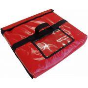 Pacote com 5 unidades Bolsa Térmica Para Pizza Caixa  Quadrada Redonda Oitavada Tipo Envelope (Leva até 2 caixas de pizza)