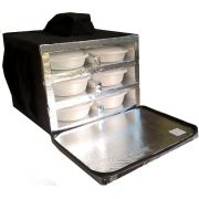 Bolsa Mochila Motoboy Para 12 Marmitex de Isopor Redonda N°8/9 Revestida com Alumínio iso12al