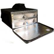 Bolsa Mochila Motoboy Para 8 Marmitex de Isopor Redonda N°8/9 Revestida com Alumínio iso8al