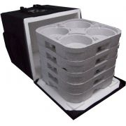 Mochila Bolsa Termica Entrega 20 Marmitex De Alumínio 8/9 20m