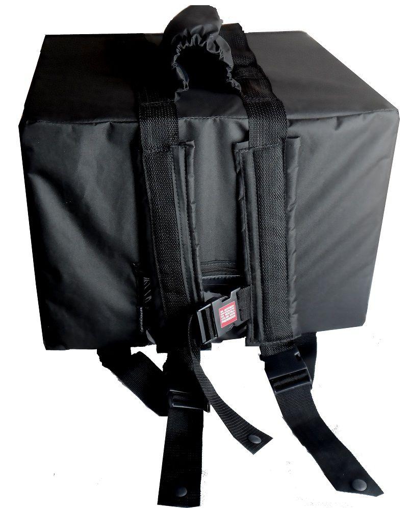 Bolsa Mochila Motoboy Para 16 Marmitex de Isopor Redonda N°8/9 Revestida com Alumínio Iso16al  - GuerreiroOnline Bolsas e Mochilas para Pizza Lanches Marmitex