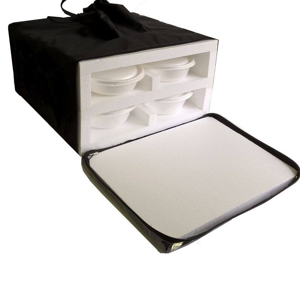 Bolsa Mochila Para Entrega De 8 Marmitex Isopor Redonda N°8/9 Iso8  - GuerreiroOnline Bolsas e Mochilas para Pizza Lanches Marmitex