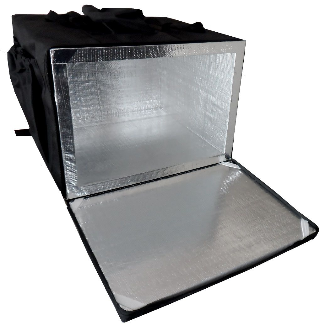 Bolsa Mochila Para Entrega De Pizza 40cm 44cm 50cm 53cm Térmica Motoboy Revestida com Alumínio   - GuerreiroOnline Bolsas e Mochilas para Pizza Lanches Marmitex