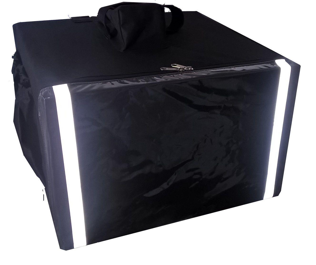 Bolsa Mochila Para Entrega De Pizza Térmica Motoboy Com Caixa de Isopor 3 Divisórias Revestida com Alumínio  40cm 44cm 50cm 53cm  - lisandro do amaral