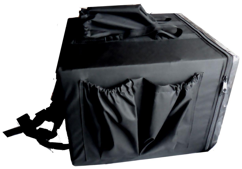 Bolsa Mochila Para Entrega De Pizza Térmica Motoboy Com Caixa de Isopor 4 Divisórias 40cm 44cm 50cm 53cm  - lisandro do amaral
