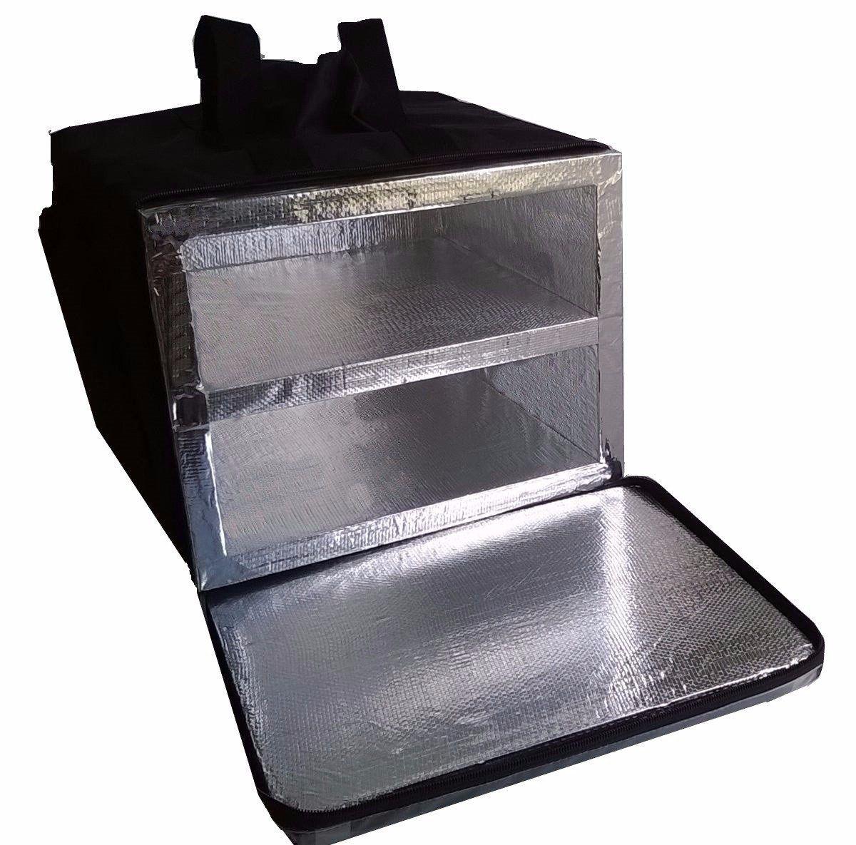 Bolsa Mochila Pizza Lanches 2 Divisórias Alumínio 40cm Bpal (para caixas de pizza que tenham até 40cm por fora)  - GuerreiroOnline