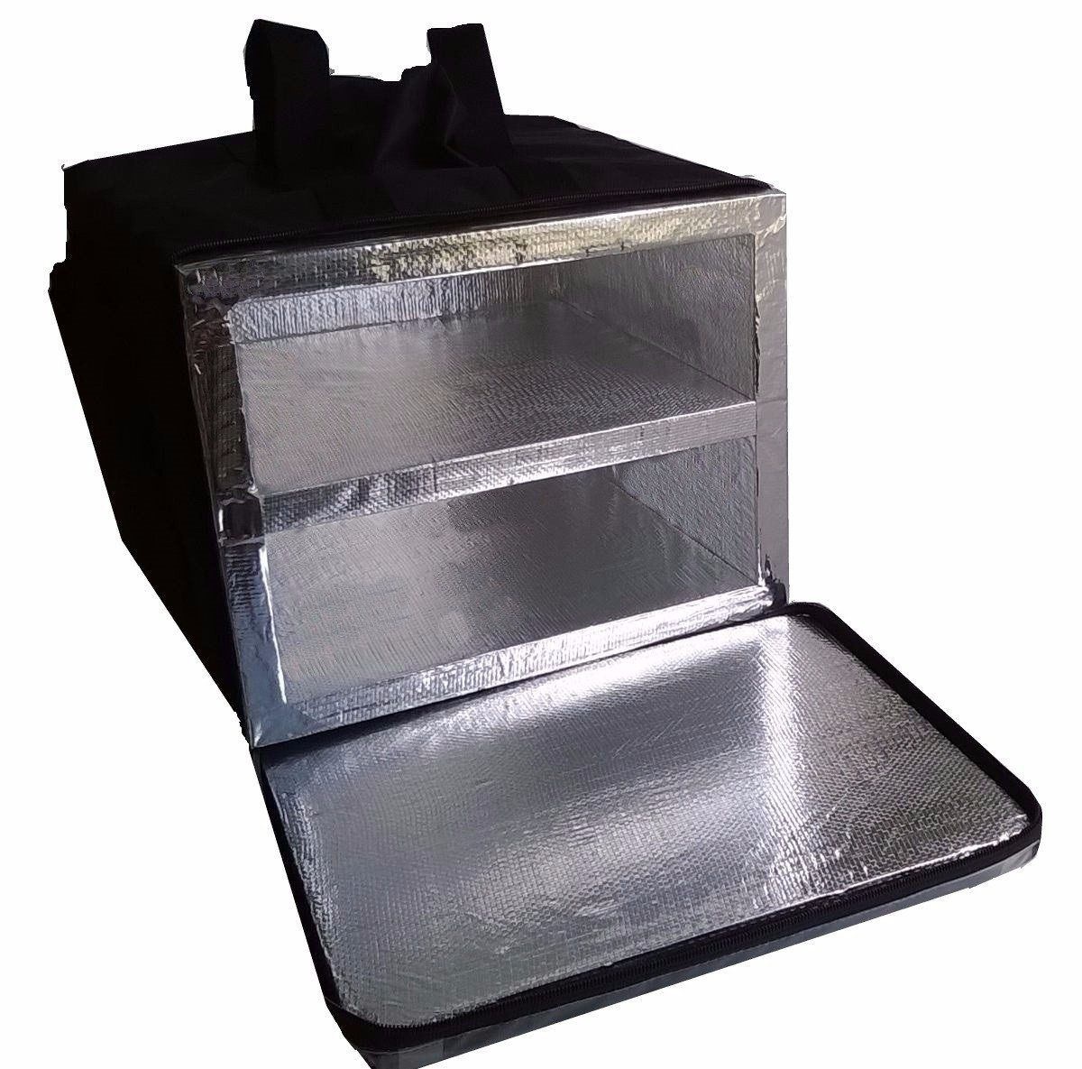 Bolsa Mochila Pizza Lanches 2 Divisórias Alumínio 50cm Bpal  - GuerreiroOnline