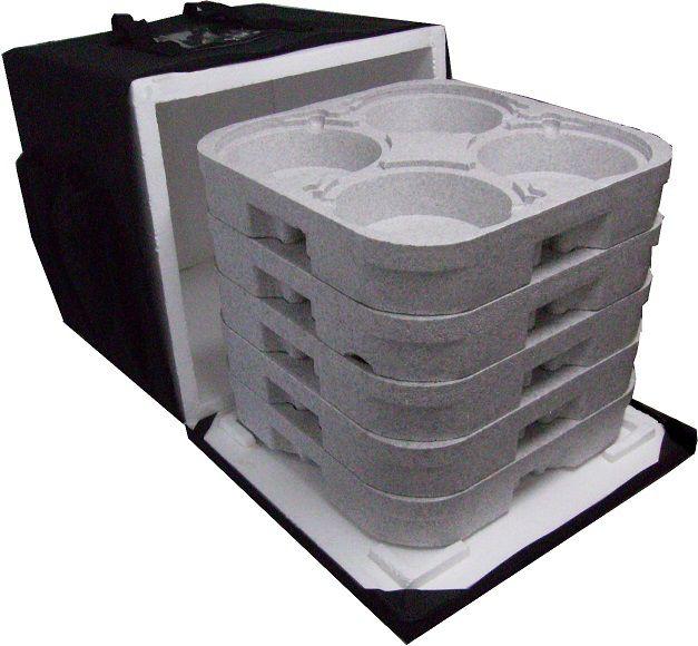 Mochila Bolsa Termica Entrega 20 Marmitex De Alumínio 8/9 20m  - GuerreiroOnline