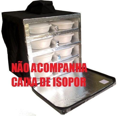 Mochila Reposição Para Marmitex Redonda de Isopor - Não Acompanha a Caixa de Isopor!   - GuerreiroOnline Bolsas e Mochilas para Pizza Lanches Marmitex