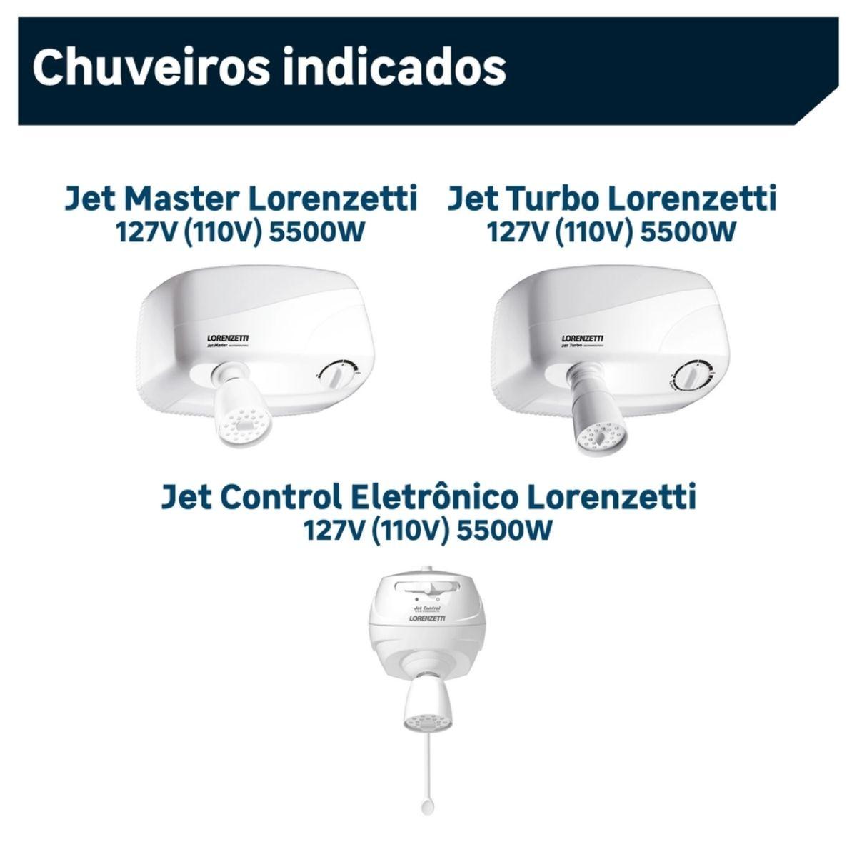 Resistência Jet Control Eletrônica / Jet Turbo 127V 5500W Lorenzetti Original