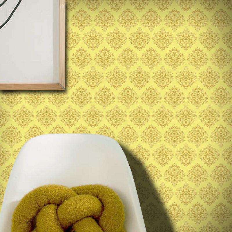 Papel de Parede Arabesco Abu Dhabi Amarelo